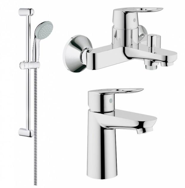 Набор смесителей для ванной GROHE BauLoop 123214S (23337000 + 32815000 + 27598000)