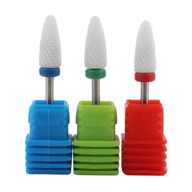 Керамические насадки для снятия гель-лака для маникюрного фрезера