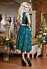 Трикотажное расклешенное платье-миди с узором (0731-0729-0730-0732 svt), фото 6