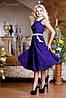 Трикотажное расклешенное платье-миди с узором (0731-0729-0730-0732 svt), фото 5