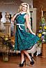 Трикотажное расклешенное платье-миди с узором (0731-0729-0730-0732 svt), фото 4