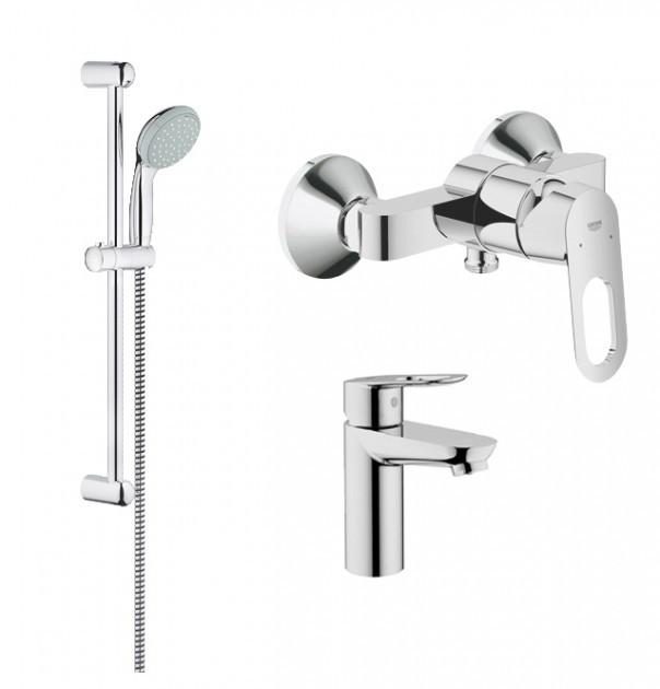 Набор смесителей для ванной GROHE BauLoop 123220S (23337000 + 32816000 + 27598000)