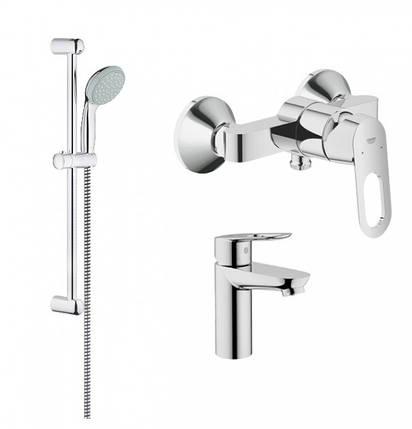 Набор смесителей для ванной GROHE BauLoop 123220S (23337000 + 32816000 + 27598000), фото 2