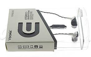 Наушники с микрофоном stereo yookie, фото 3