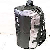 Дорожные сумки швейка Nike М (черный-сер)26Х33Х50