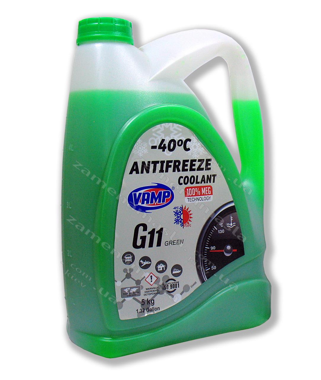 Антифриз G11 VAMP зелёный (МЭГ) 5л