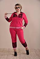Красный спортивный костюм 0253-2