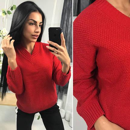 Женский свободный вязаный свитер, фото 2