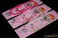 Детская бижутерия, набор  4 в 1: бусы, кольцо, браслет, серьги-клипсы, 12 штук в упаковке