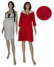 Комплект с велюровым халатом для беременных и кормящих 18049 УКР