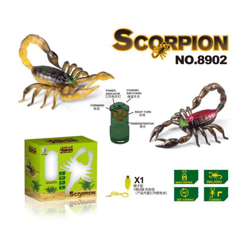 Скорпион на радиоуправлении, игрушка жук радиоуправляемый.