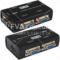 Сплиттер VGA (мини) на 4 порта (1 гнездо VGA - 4 гнездо VGA), DC-9V, 300mA (MT-2504-A), MT-VIKI
