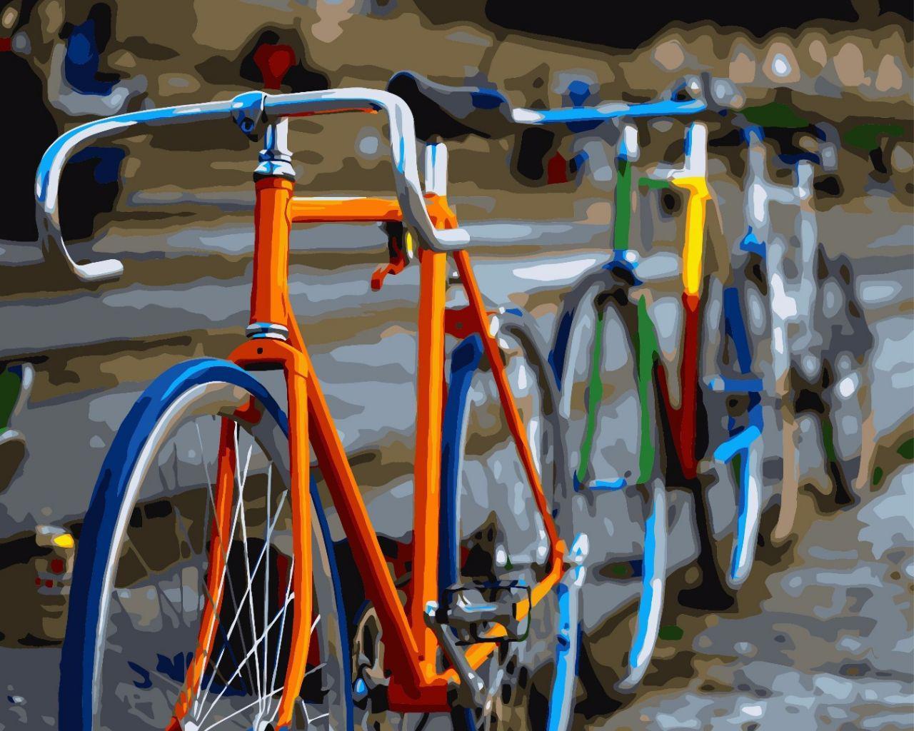 Картина по номерам Велосипеды, 40x50 см., Brushme