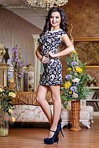 Женское принтованное платье с белым вопротником (0740-0738-0739-0736 svt), фото 3