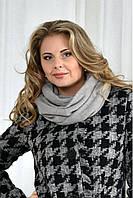 Серый шарф 001-2
