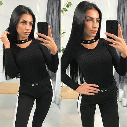 Женский модный вязаный свитер, фото 2