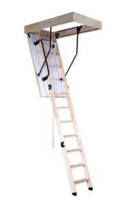 Чердачная лестница OMAN Termo PS (120х60) с поручнем