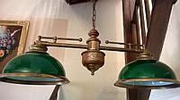 Антикварная бронзовая бильярдная люстра  светильник лампа антикварная мебель антиквариат Украина Киев Одесса