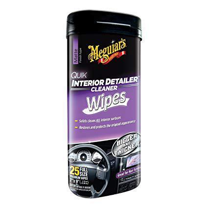 Серветки для швидкого очищення салону - Meguiar's Quik Interior Detailer™ Cleaner 18х23 див. 25 шт. (G13600)