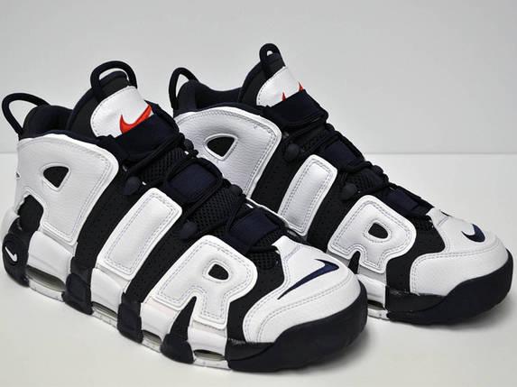 Детские Кроссовки Nike Uptempo Blue/White черно/белые, фото 2