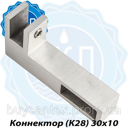 Крепление угловое стекло-труба 10х30  Хром, фото 2