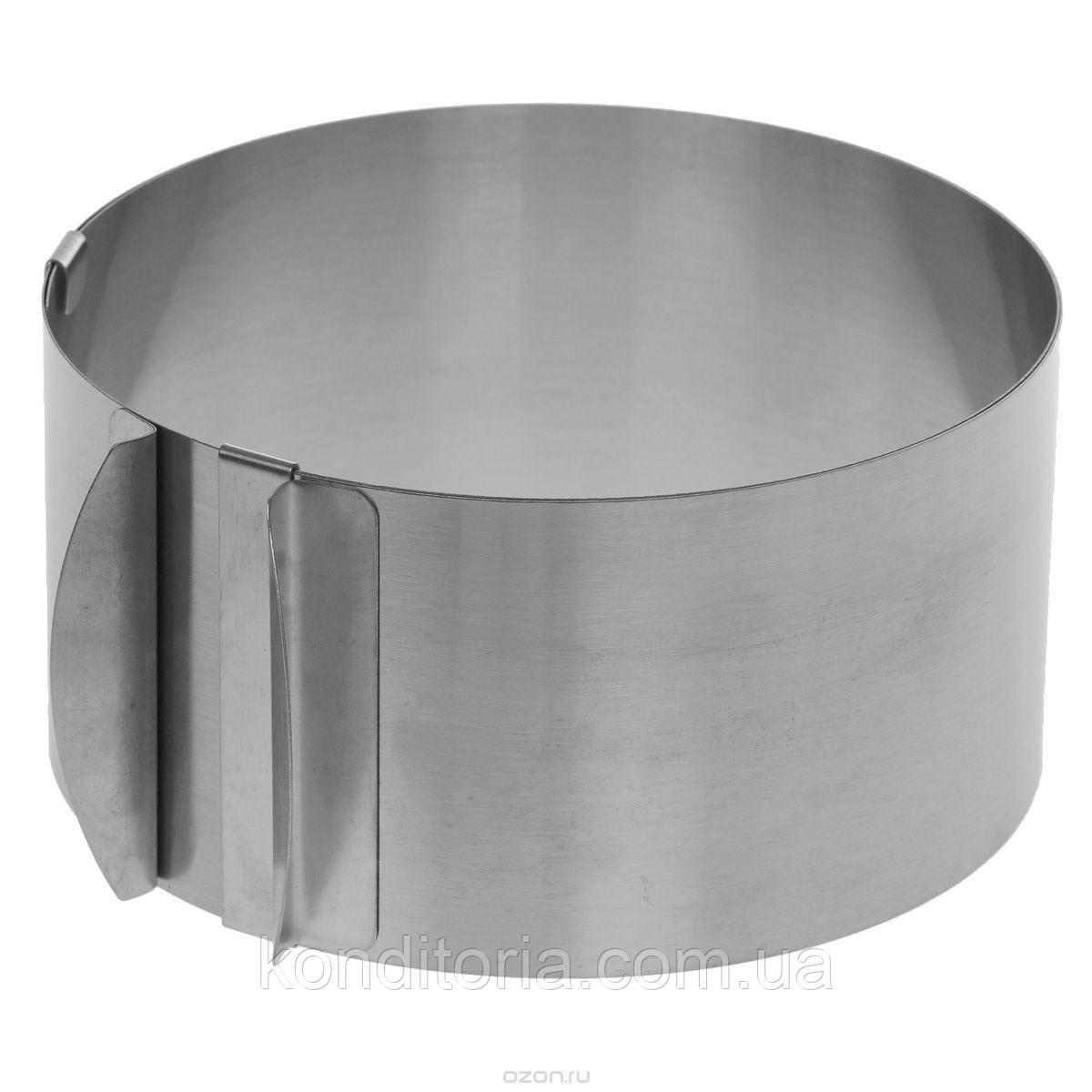 Кондитерское кольцо разъемное D=16-30 H=15см
