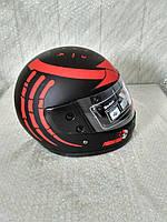 Шлем для скутера  черный глянцевый PREDATORS  (серия Чужой), размер М(57-58)