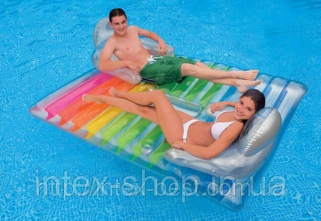 АКЦИЯ!!! Пляжное надувное матрас-кресло для двоих Intex 58877
