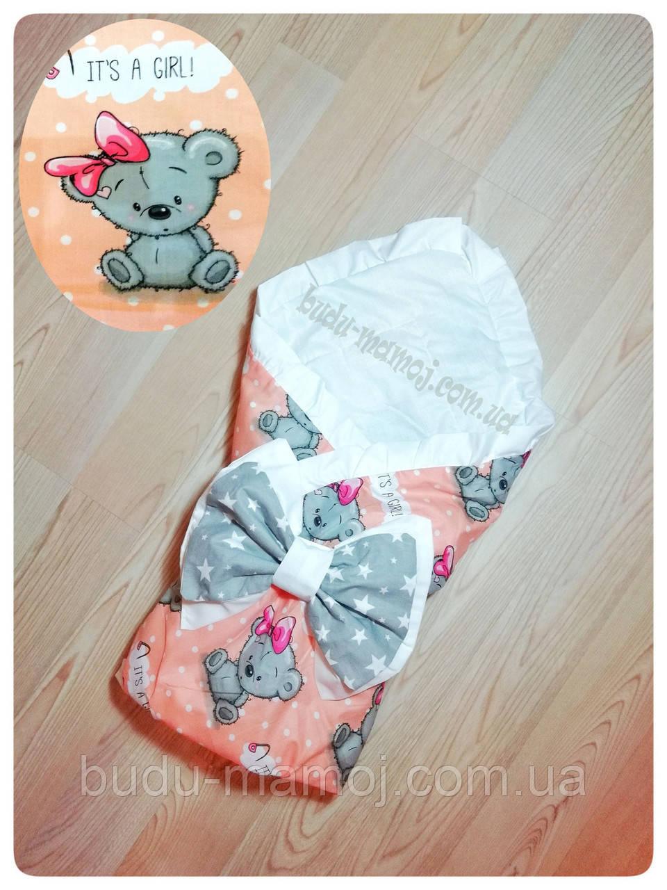 Конверт на выписку одеяло для новорожденного Хлопок Польша