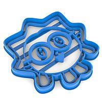 Вырубка для пряников Малышарики Ежик 10*9,7 см (3D)