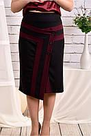 Бордовая юбка 0458-1