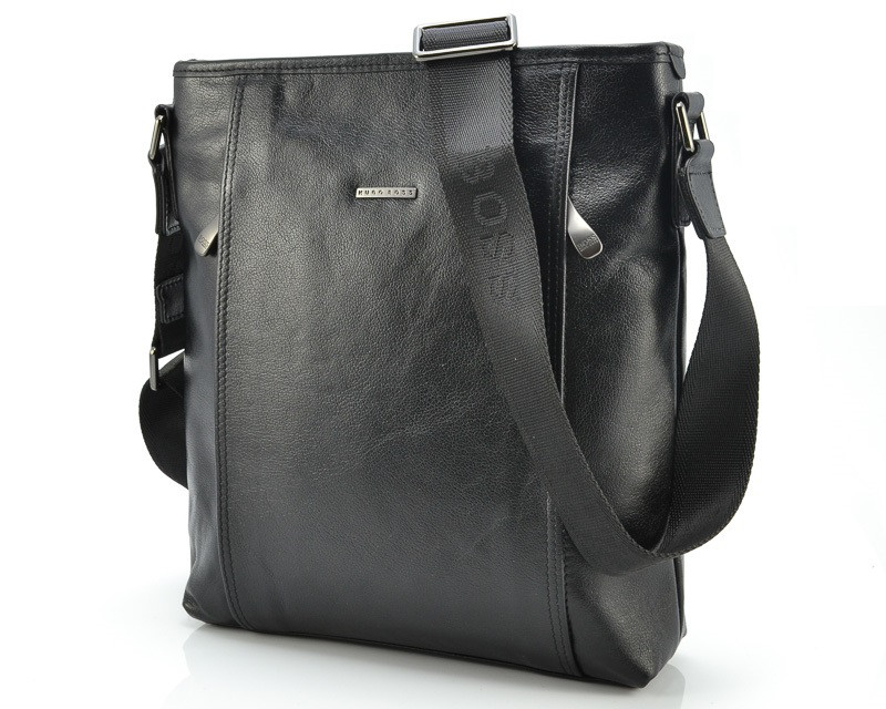 68cf4f0aac3b Кожаная мужская сумка Hugo Boss 8438-4 Black - Portmoneshop.com.ua в