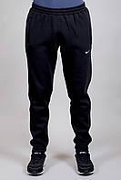 Зимние спортивные брюки Nike на манжете 9194 черные