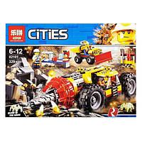 """Конструктор Lepin 02101 (аналог Лего Сити) """"Cities: добыватели золота"""" (329 дет)"""