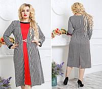 Трикотажное женское платье  р.48-62