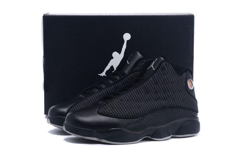 Кроссовки Jordan Air 13 Retro Low All Black Черные