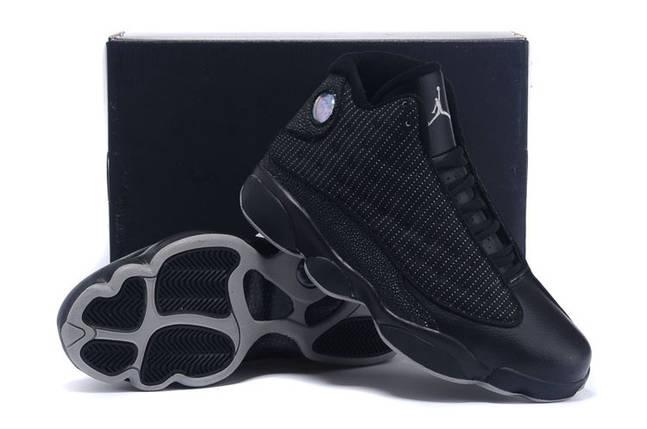 Кроссовки Jordan Air 13 Retro Low All Black Черные, фото 2