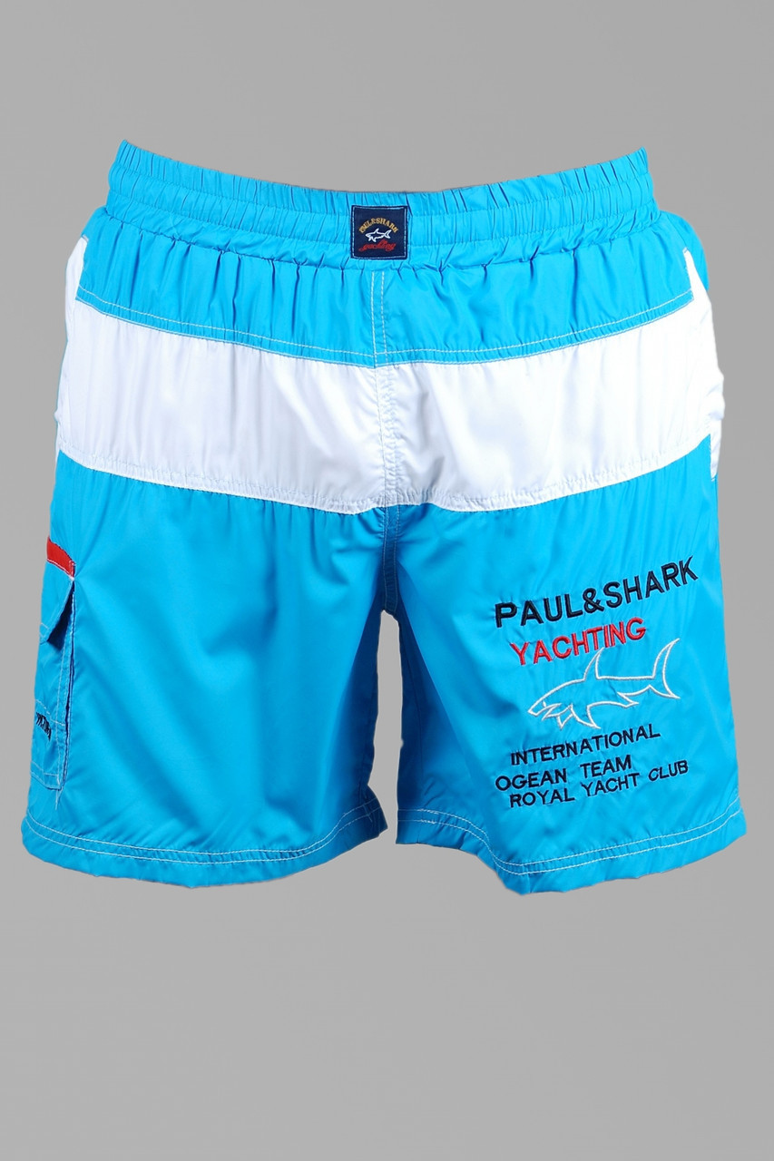 Шорти чоловічі Paul Shark 9763 бірюзові