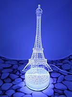 3D Ночник-Светильник 7 вариантов настроения (Эйфелева Башня)