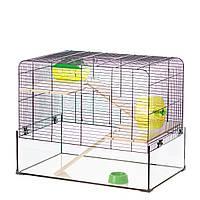 Прозрачная клетка для хомяка Inter Zoo G165 AQUALAND 2 (590*380*470 мм)