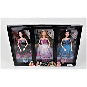 Кукла GIRL 3 вида ZR-052 коробка 24 шт размер 50.5*5.5*33.5