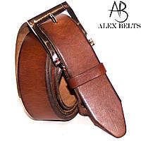 Ремень мужской брючный кожаный гладкий 35 мм - купить оптом в Одессе