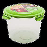 Контейнер глубокий 1,3 л прозрачно-зеленый