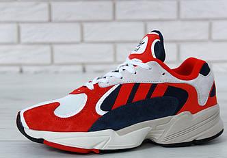 Мужские кроссовки Adidas Yung 1 White Red Suede, Адидас Янг
