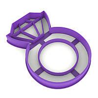Вырубка для пряников Кольцо с бриллиантом 9*6,2 см (3D)