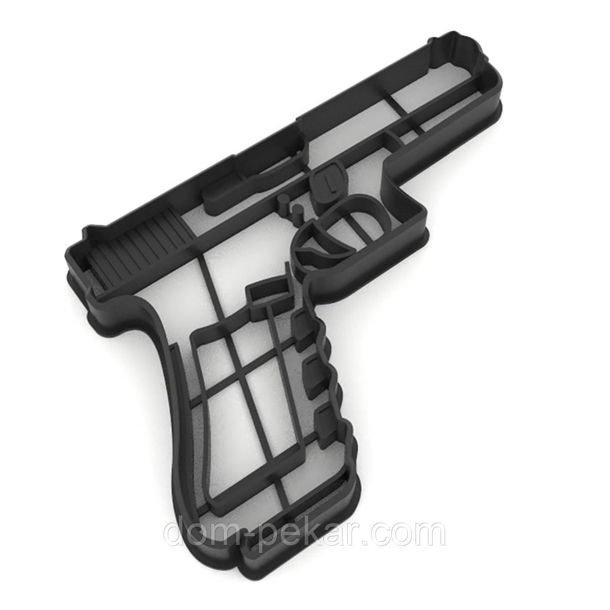 Вырубка для пряников Пистолет 8,1*12 см (3D)