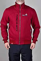 Спортивная кофта Мужская Adidas зимняя 1263 Бордовая