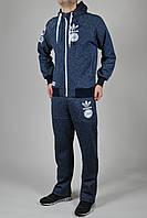 Зимний спортивный костюм мужской Adidas Originals 1294 Тёмно-синий реплика