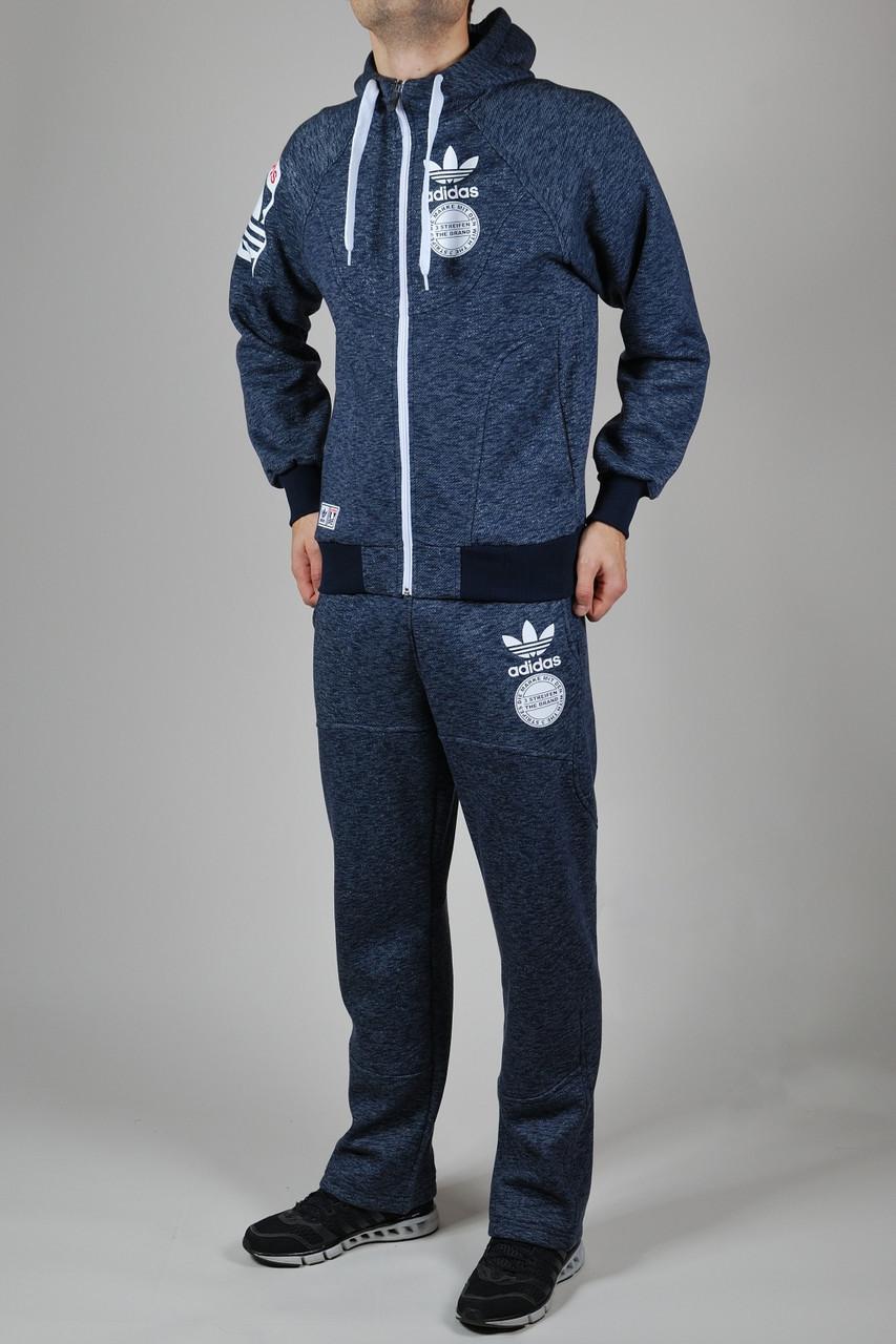 a1dd5310282 Зимний спортивный костюм мужской Adidas Originals 1294 Тёмно-синий -  Брендовая одежда от интернет-