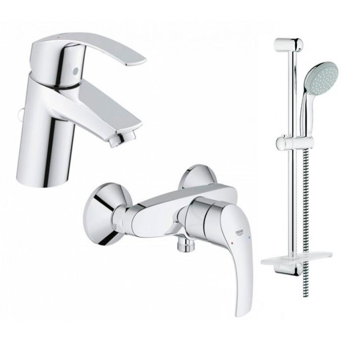 Набор смесителей для ванной Grohe Eurosmart (123244S)